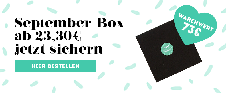 Vegan Beauty Box September 2017 Bestellen